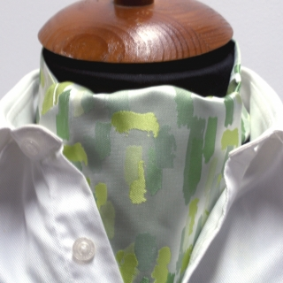 Галстук Аскот #021 (зеленый узор)