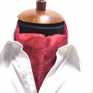 Купить галстук Аскот шейный платок красный