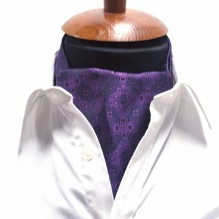 Купить галстук Аскот шейный платок фиолетовый узор