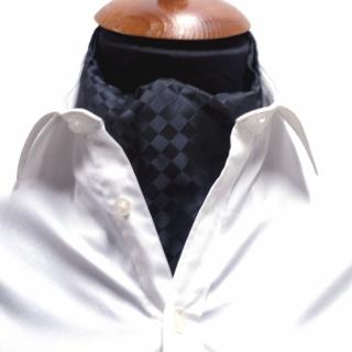 Купить галстук Аскот шейный платок черный узор