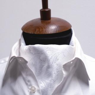 Купить галстук Аскот шейный платок белый пейсли