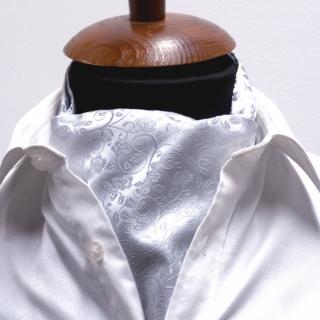 Купить галстук Аскот шейный платок белый