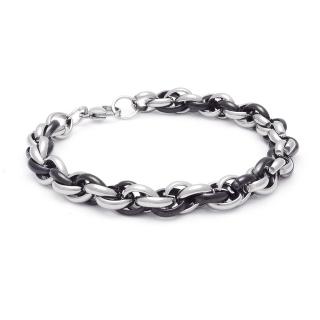 Купить стальной плетеный браслет