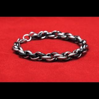 Стальной плетеный браслет