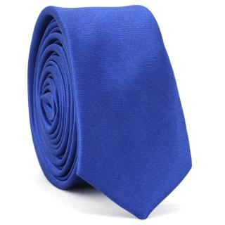 Супер узкий галстук #160 (сапфировый)