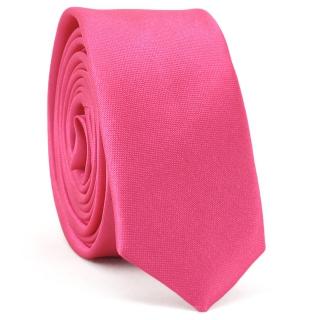 Супер узкий галстук #163 (розовый)