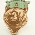 Деревянный значок медведь thumb