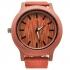 Деревянные часы красного цвет thumb