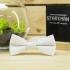 Белая галстук-бабочка детская thumb