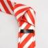 Узкий галстук красно-белый thumb