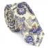 Купить узкий мужской галстук с фактурным узоров в виде бирюзовых огурцов thumb