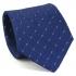 Купить узкий мужской галстук синего цвета с фактурным узором. thumb