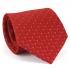 Купить узкий мужской галстук красного цвета с фактурным узором. thumb
