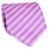 Купить узкий мужской галстук светло-розового цвета в полоску. thumb