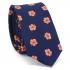 Купить узкий мужской цветочный галстук синего цвета. thumb