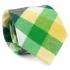 Купить узкий мужской галстук зеленого цвета в клетку. thumb