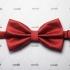 Фактурный галстук бабочка бордового цвета thumb
