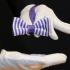Вязаная фиолетово-белая галстук-бабочка thumb