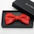 Красная галстук-бабочка с рисунком thumb