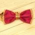 Недорогая мужская галстук-бабочка бордовая thumb