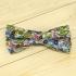Недорогая цветочная стильная алстук-бабочка с цветными вставками thumb
