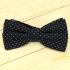 Хлопковый галстук-бабочка черный в точку thumb