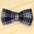 Недорогая модная стильная клетчатая галстук-бабочка из плотной хлопковой ткани thumb