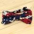 Недорогая модная галстук-бабочка камуфляжного цвета из плотной хлопковой ткани thumb