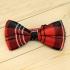 Недорогая модная клетчатая галстук-бабочка из плотной хлопковой ткани thumb