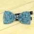 Недорогая модная галстук-бабочка из плотной хлопковой ткани с узором в виде кристаллов thumb