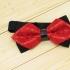 Недорогая модная галстук-бабочка красного цвета из плотной хлопковой ткани thumb