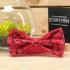 Малиновый галстук-бабочка thumb
