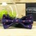 Купить синий земляничный галстук-бабочку thumb