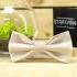 Купить галстук-бабочку бежевого цвета thumb