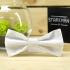 Купить галстук-бабочку белого цвета thumb