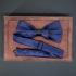 Синяя бабочка с кожаной перемычкой thumb