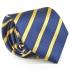 Галстук синего цвета в желтую полоску  thumb