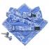 Купить набор аксессуаров голубого цвета с узором thumb
