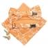 Купить набор аксессуаров оранжевого цвета с узором thumb