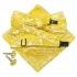 Купить набор аксессуаров желтого цвета с узором thumb