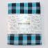 Купить бирюзовый клетчатый нагрудный платок thumb