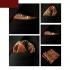 Оранжевый узорчатый платок паше thumb