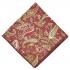 Нагрудный платок бордового цвета с узором пейсли thumb