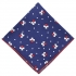 Нагрудный платок синего цвета с принтом клевер thumb