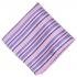 Нагрудный платок розового цвета с яркими полосками thumb
