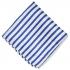 Нагрудный платок белого цвета с синими полосками thumb