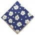 Нагрудный платок синего цвета с принтом thumb