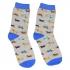 Серые носки с цветными собаками thumb