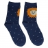 Темно-синие носки в горошек со львом thumb