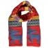 Купить красный шерстяной шарф с оленями thumb